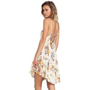 Free People Cirlce of Flowers Print Slip Dress